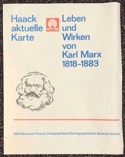 Gotha: VEB Hermann Haack, 1983. Map, 71x56 cm, folded into sixths, minor wear and edge curling; depi...