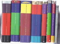 EIGHT Volumes: Harry Potter and the Philosopher's Stone ( AKA: Sorcerer's Stone ); Chamber of Secrets; Prisoner of Azkaban; Goblet of Fire; Order of the Phoenix; Half Blood Prince; Deathly Hallows --book 1, 2, 3, 4, 5, 6, 7 & Tales of Beedle the Bard