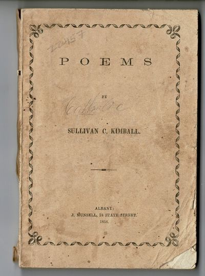 Albany: J. Munsell, 1858. First edition, 16mo (approx. 5½