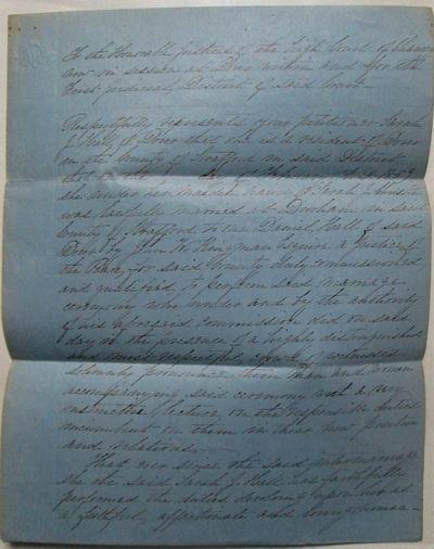 Petition for Divorce. Handwritten...
