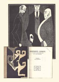 image of SIMPSON'S CHOICE: AN ESSAY ON THE FUTURE LIFE. Woodcuts by Roald Kristian. REVIEW COPY of the first book produced by Omega Workshops