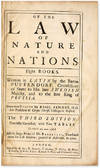 View Image 2 of 2 for Of the Law of Nature and Nations, Eight Books, Third Edition, 1717 Inventory #71003