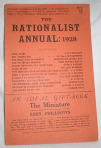 The Rationalist Annual: 1928