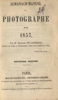 ALMANACH-MANUEL DU PHOTOGRAPHE POR 1857