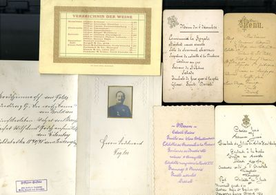 1900. Some restaurant menus, but most for occasions (weddings, first communions, royal dinners, and ...