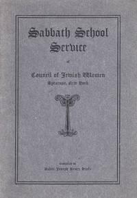 SABBATH SCHOOL SERVICE OF COUNCIL OF JEWISH WOMEN SYRACUSE, NEW YORK