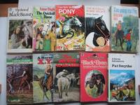 image of 10 pony stories first published in the 1970s: The best of Black Beauty;  The quicksilver horse; The gift-wrapped pony; The rocking horse secret; A  devil to ride; The secret in the hills; The pony raffle; A horse for  X.Y.Z.; Black Ebony & A Swiss adventure