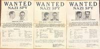 image of Wanted: Nazi Spy [trio of FBI wanted posters for Oscar Max Wilms, Max Christian Johannes Schneemann, and Hans Rudolf Christian Zuehlsdorff]