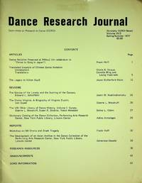 Dance Research Journal Committee on Research in Dance (CORD) Volume IX/2, Spring/Summer 1977 by Committee on Research in Dance (CORD); Elizabeth Burtner (Ed) - 1977-01-01 - from Epilonian Books (SKU: 20210405011)