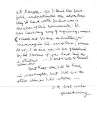 AUTOGRAPH LETTER SIGNED (ALS) to Doris Grumbach with her SIGNED Copy of GINSBERG. A BIOGRAPHY by Barry Miles
