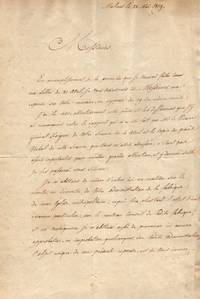 Letter signed, in French with translation, (François Antoine, 1756-1831, the last Prince-Bishop of Liège 1792-1801, as Archbishop of Mechelen (Malines) the first Primate of Belgium from 1817, Comte de)