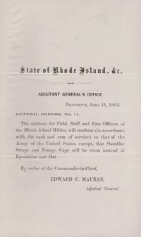 Adjutant General's Office, Providence, June 11, 1863. General Orders, No. 14