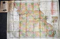 INDEXED  POCKET MAP AND SHIPPERS' GUIDE OF MISSOURI:; Railroads and Electric Lines, Post Offices, Express, Telegraph and Mail Service, Counties, Congressional Townships, Cities, Towns, Villages, Islands, Lakes, Rivers, Creeks, Etc.  Population According to the Latest Official Census