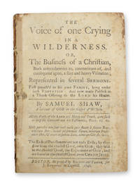 The Voice of One Crying in the Wilderness . . .