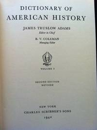 Dictionary of American History [6 volumes]