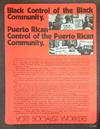 View Image 2 of 2 for Black control of the black community. Puerto Rican control of the Puerto Rican community; vote Socia... Inventory #125836