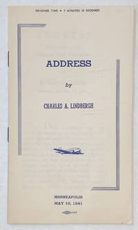 image of Address by Charles A. Lindbergh. Minneapolis, May 10, 1941