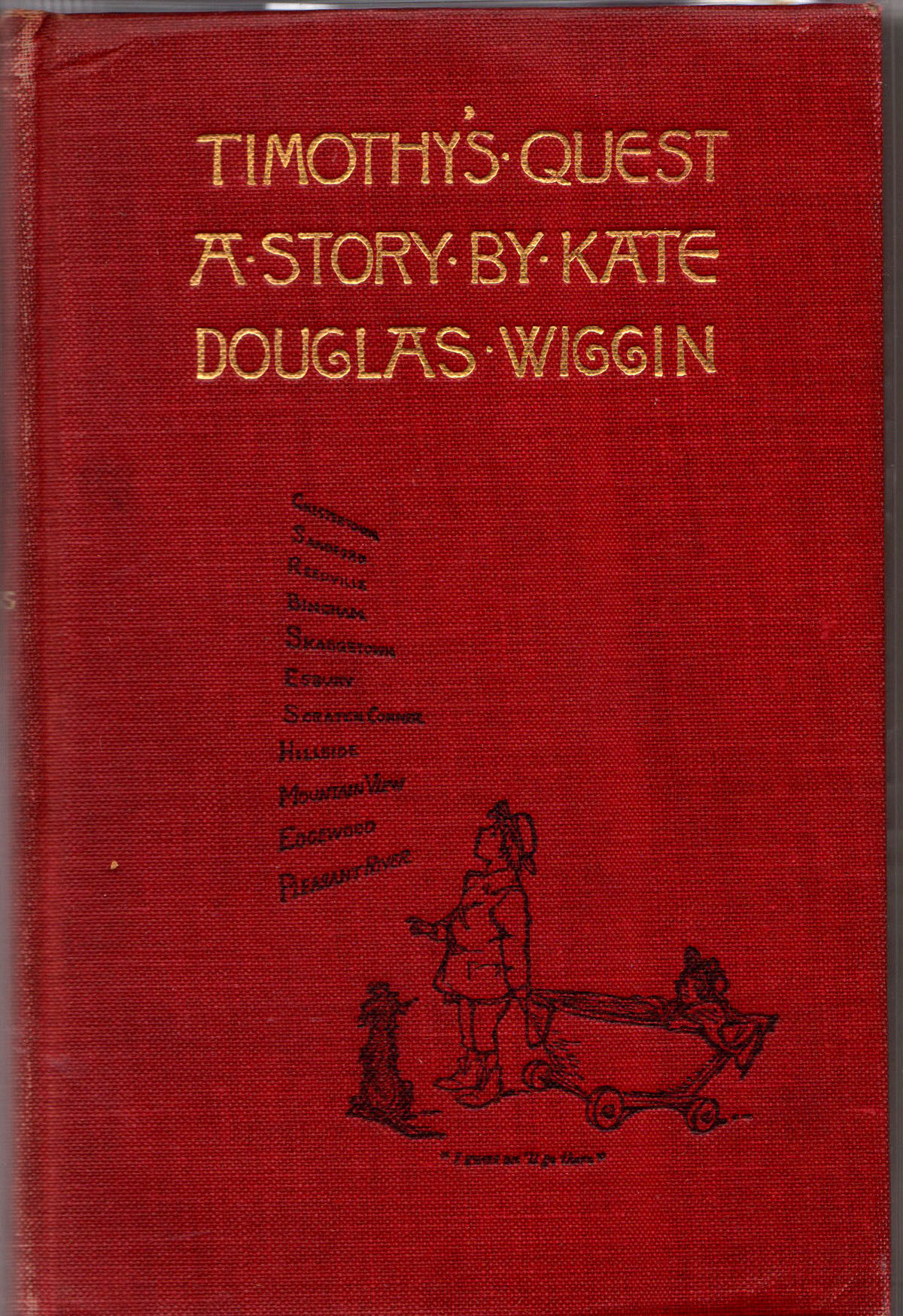 Kate douglas wiggin timothy 39 s quest inscribed 1890 by for Uncle tom s cabin first edition value