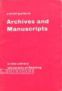(Reading): University of Reading, 1980. stiff paper wrappers. small 8vo. stiff paper wrappers. 43 pa...
