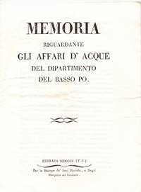 Memoria riguardante gli affari d'acque del Dipartimento del Basso Po.
