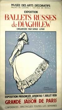 [Poster], Ballets Russes de Diaghilew Paris: 1939. Ad Avertising poster for the 1939 exhibition of Diaghilev