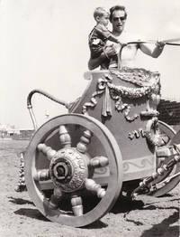 Ben-Hur (Original photograph of Charlton Heston and son on the set of the 1959 film)