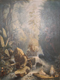 The Mountain Stream.  (Indians reposing)