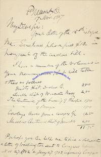 """Rutherford B. Hayes Handwrites A Letter About His Ancestor And His """"Attempt To Arrest Wells & Knowlton Of Vermont By Liuet. Israel Smith…Lt. Israel Smith Was My Gr. Grandfather"""""""