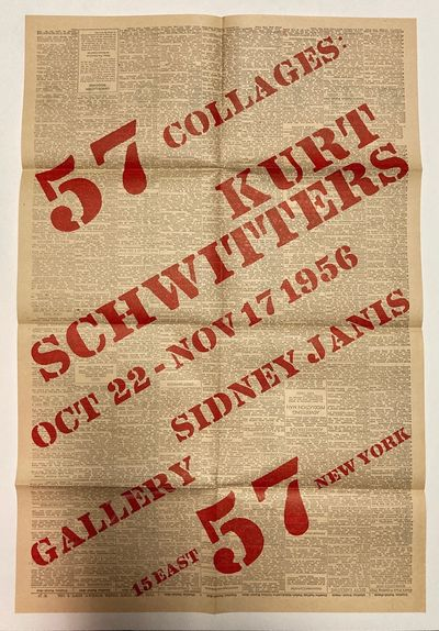 New York: Sidney Janis Gallery, 1956. Poster. About 56.5 x 37.8 cm unfolded (folded in 8 it is about...
