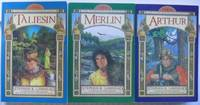 "Pendragon Cycle:  volume (1) one - Taliesin;  volume (2) two - Merlin;  volume (3) three - Arthur  -the first three books of the ""Pendragon Cycle"" -(large soft covers in near fine condition, no slipcase)-"