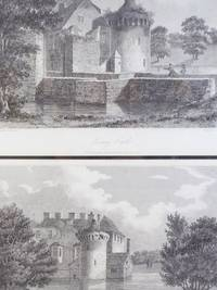 1809 Prints - Two Views of Scotney Castle [Kent, England], Etched by Letitia Byrne from Drawings by P. Amsinck