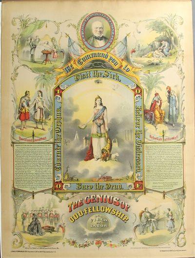 Cincinnati: J. Hale Powers & Co., Strobridge Co., lithog, 1873. Broadside (approx. 24