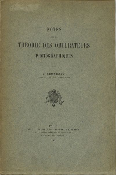 Paris: Gauthier-Villars, 1905. First ed. 8vo., ix, 79 pp., illustrated with diagrams. Printed paper ...