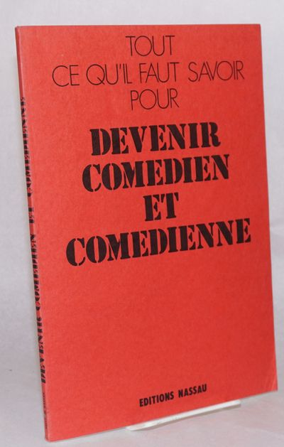 La Garenne-Colombes: Nassau, 1986. , very good in 11.5 x 8 inch red wraps, text in French. Guide to ...