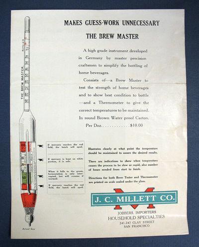 San Francisco: J. C. Millett Co, (n. d.). 1st printing (presumed). White printed paper. Moderate wea...