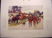 Horse Calendar 1908. Raphael Tuck Highways & Byeways. Gilbert Wright artist Horses Dogs