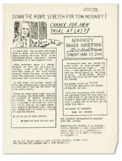 New York, n.d. but 1933. First Edition. Broadside flyer (28x21.5cm.); illustrated and printed mimeog...
