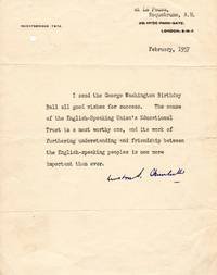 Winston Churchill Emphasizes the Importance of Friendship Between the United States and Britain and would go on to Foment the Partnership of the English-speaking World