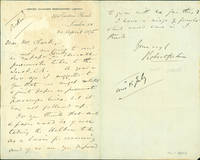 Autograph letter signed to Latimer Clark