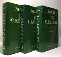 image of Le capital - trois livres - critique de l'économie politique. 1/ Le développement de la production capitaliste + 2/ Le procès de circulation du capital + 3/ Le procès d'ensemble de la production capit