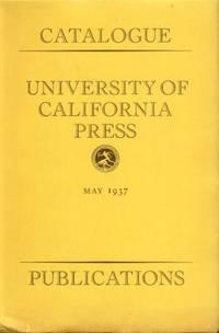 image of Catalogue University of California Press Publications - May 1937