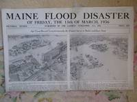 image of Newspaper MAINE FLOOD DISASTER OF FRIDAY, THE 13TH OF MARCH, 1936.  Pictorial Review