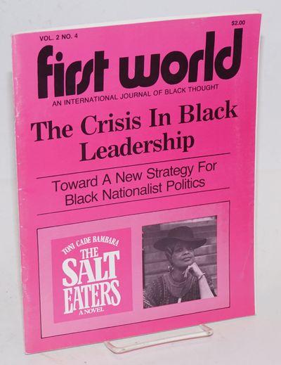 Atlanta: First World Foundation, 1980. Magazine. 64p., 8.5x11 inches, staplebound magazine, very goo...