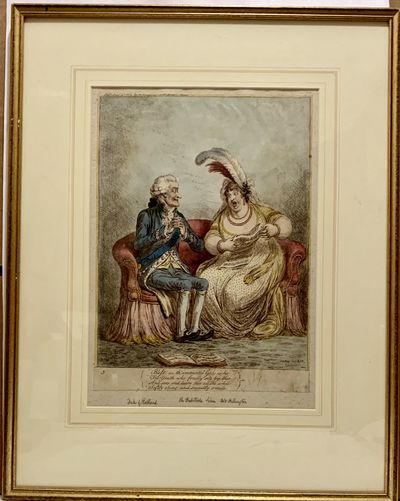 London: Hannah Humphrey, 1803. Hardcover. Gilt wood frame in very good condition. 14 x 10.5 inches p...