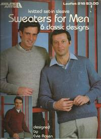 KNITTED SET-IN SLEEVE SWEATERS FOR MEN: 6 Classic Designs (Leisure Arts  Leaflet 216)