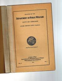 A Study of Boys Appearing in the Municipal Court of Chicago with Emphasis Upon Recidivism