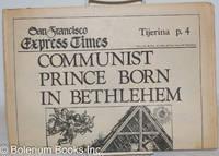 image of San Francisco Express Times: vol. 1, #49, December 24, 1968: Communist Prince Born in Bethlehem
