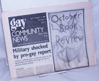 image of GCN: Gay Community News; the lesbian and gay male weekly; vol. 17, #16, Oct. 29-Nov. 4, 1989; Military Shocked by Pro-Gay Report