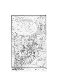 Corrado Mastantuono Disney Big #12 Preliminary Original Cover Art