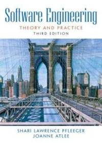 Software Engineering (3rd Edition) by Shari Lawrence Pfleeger - Hardcover - 2005-01-03 - from Books Express and Biblio.com